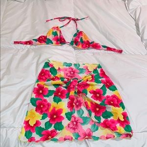 Other - Bikini top and matching beach wrap cover up